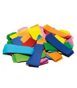 Slow-fall confetti rectangular