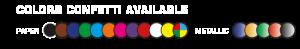 The Confettimaker all our confetti colors