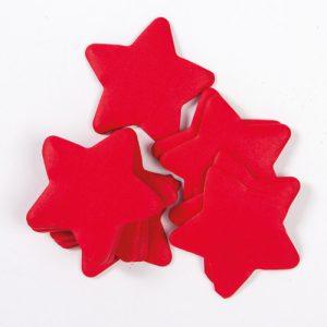 Slow-fall confetti stars